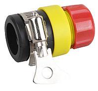 """Соединитель GRINDA из ударопрочной пластмассы с хомутом (для трубы 16-21мм), 1/2"""""""