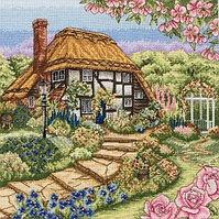 """Набор для вышивания крестом """"Дом в розах"""""""