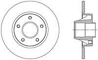 Тормозные диски  Opel Vivaro (01-…, задние, Optimal)