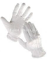 Белые перчатки с резиновой ладонью для официантов