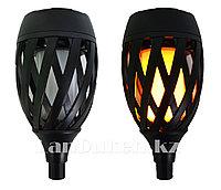 Декоративный солнечный водонепроницаемый фонарь факел (садовый светильник) Lamp 705 с двумя креплениями, 58 см