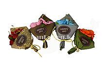 Сувенирный мини букет магнит французский Happy Day в ассортименте