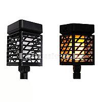 Декоративный солнечный водонепроницаемый фонарь факел (садовый светильник) Lamp 703 с двумя креплениями, 60 см