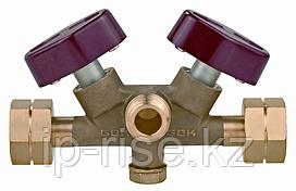 Ручной переключающий клапан Gok, DVS PS16бар GF x AG GF x GF