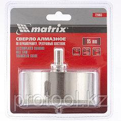 Сверло алмазное по керамограниту, 95 х 67 мм, 3-гранный хвостовик// MATRIX