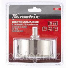 Сверло алмазное по керамограниту, 90 х 67 мм, 3-гранный хвостовик// MATRIX