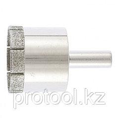 Сверло по стеклу и керамической плитке, 35 х 55 мм, цилиндр. хв.// СИБРТЕХ