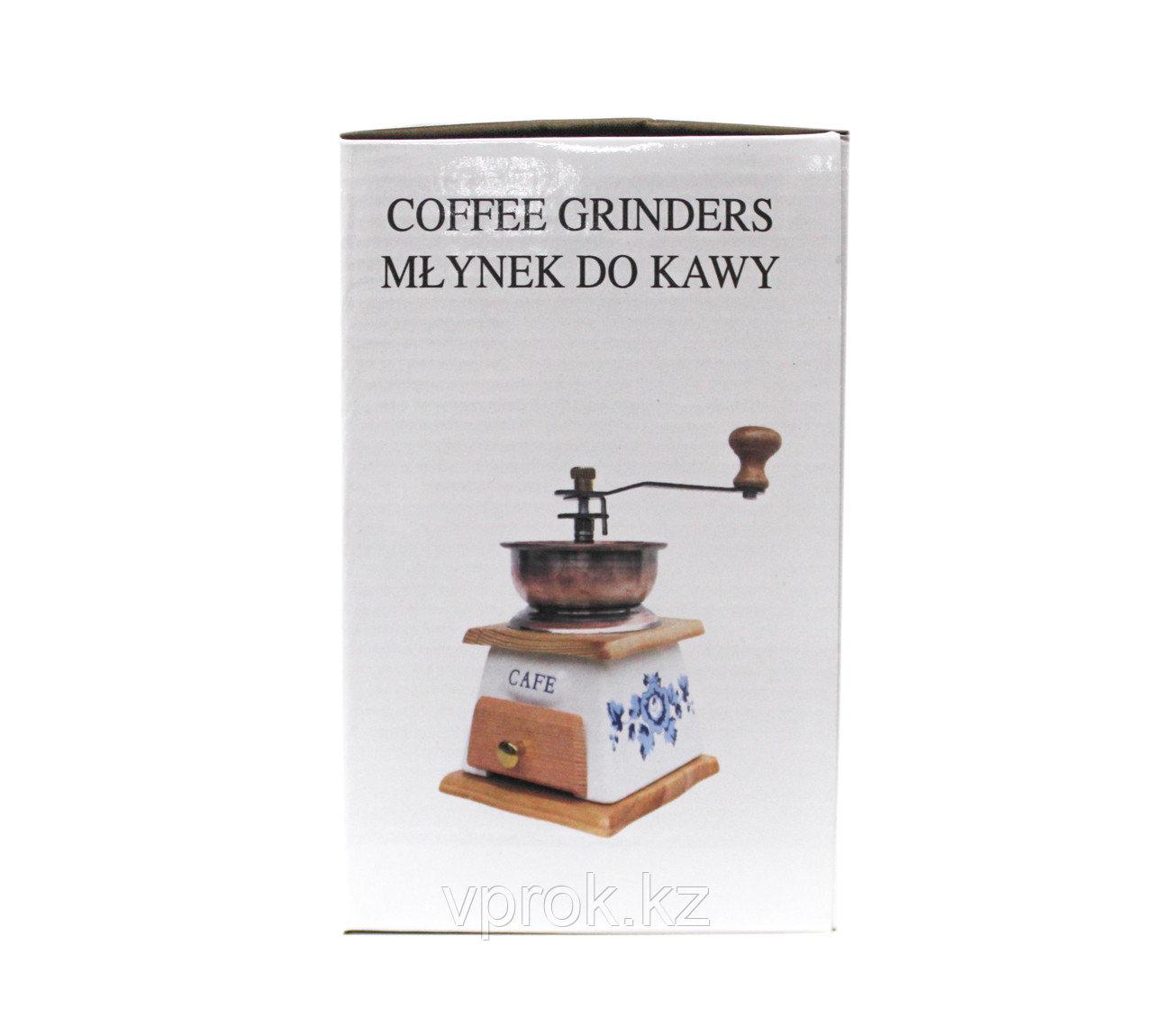 Кофемолка ручная, красное дерево, 30x25x30см - фото 5