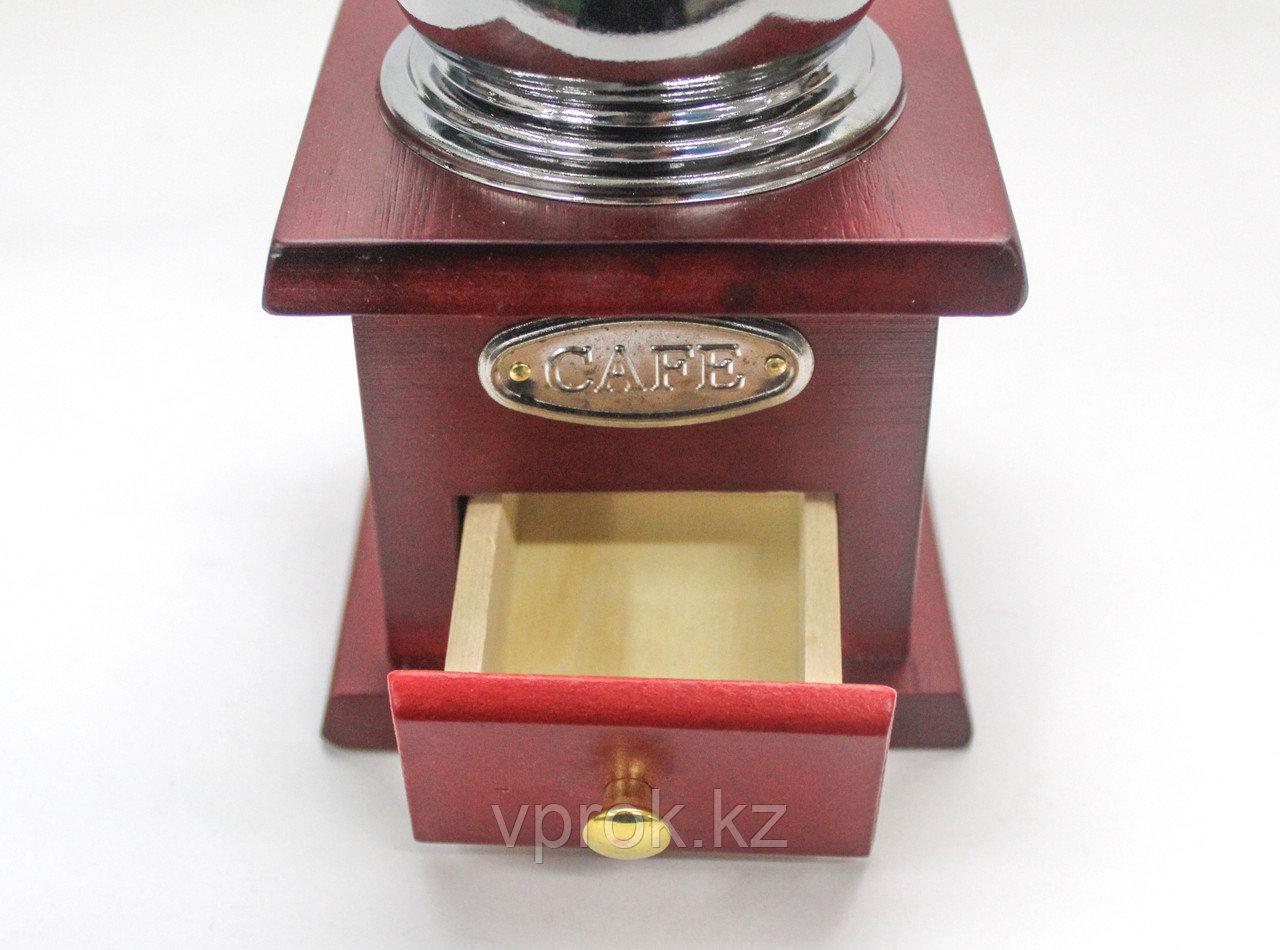 Кофемолка ручная, красное дерево, 30x25x30см - фото 3