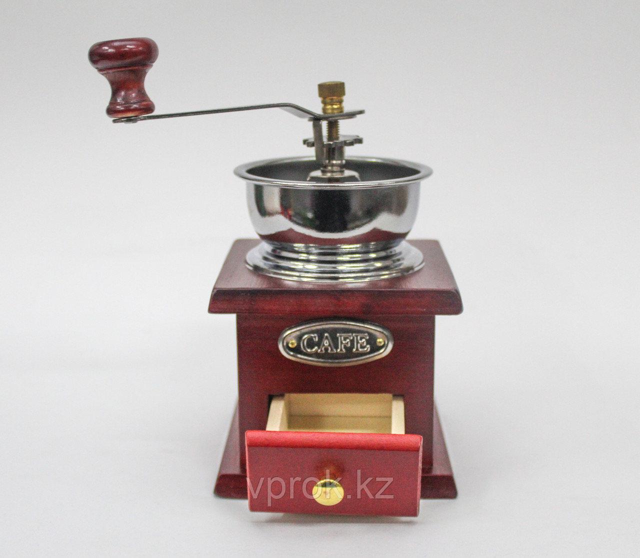 Кофемолка ручная, красное дерево, 30x25x30см - фото 2