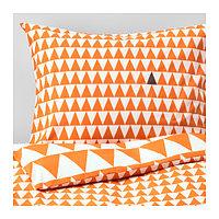 Пододеяльник и 1 наволочка СТИЛЛСАМТ светло-оранжевый ИКЕА, IKEA, фото 1