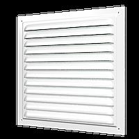 Решётки вентиляционные с покрытием полимерной эмалью и сеткой (серия МЭ)150*150