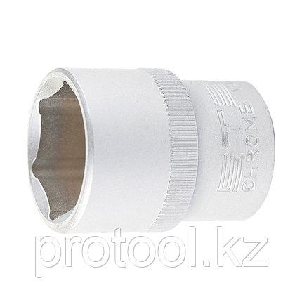 "Головка торцевая, 17 мм, 6-гранная, CrV, под квадрат 1/2"" STELS, фото 2"
