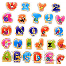 """Деревянный магнитный набор """"Английский алфавит"""", 26 штук, фото 2"""