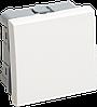 IEK ВКО-21-00-П Выключатель одноклавишный (на 2 модуля) ПРАЙМЕР белый IEK