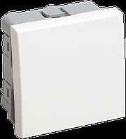 IEK ВКО-21-00-П Выключатель одноклавишный (на 2 модуля) ПРАЙМЕР белый IEK, фото 1