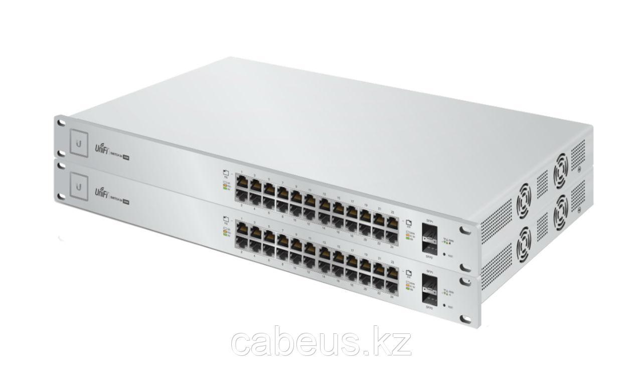 Коммутатор [US-24-250W-EU] Ubiquiti UniFi Switch 24-250W 24 порта, раздача PoE на всех портах (24/48В),
