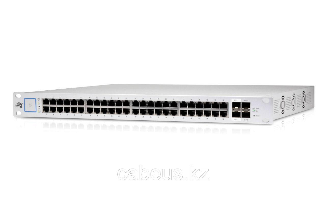 Коммутатор [US-48-750W-EU] Ubiquiti UniFi Switch 48-750W 48 портов, раздача питания 24/48В на всех портах,