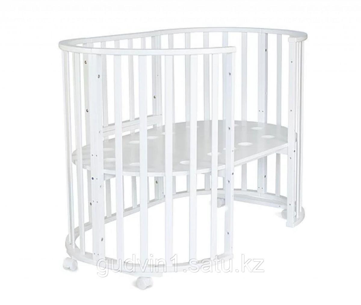 Круглая-овальная кровать трансформер 10в1 СКВ-10 105009 бежевая