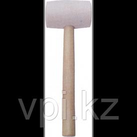 Киянка резиновая белая, деревянная рукоятка, 500гр.
