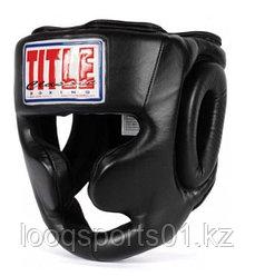 Закрытый боксерский шлем защитный TITLE
