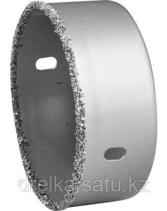 Буровые коронки с твердосплавным напылением ЗУБР 33361, ЭКСПЕРТ, с карбид-вольфрамовой крошкой