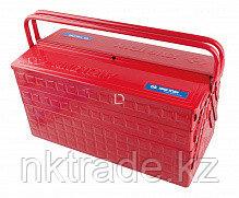 Ящик переносной для инструмента металлический красный