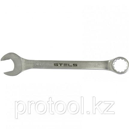 Ключ комбинированный, 36 мм, CrV, матовый хром STELS, фото 2