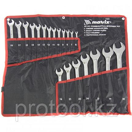 Набор ключей комбинированных 6-32 мм, 20 шт., CrV, полированный хром MATRIX, фото 2