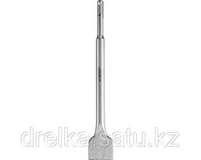 Зубило SDS Plus плоское ЗУБР 29233-40-250, МАСТЕР, по бетону для перфоратора, широкое, 40 х 250 мм.