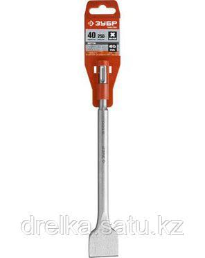 Зубило SDS Plus плоское ЗУБР 29233-40-250, МАСТЕР, по бетону для перфоратора, широкое, 40 х 250 мм., фото 2