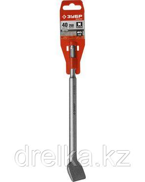 Зубило SDS Plus плоское ЗУБР 29234-40-250, МАСТЕР, по бетону для перфоратора, изогнутое, 40х250 мм., фото 2