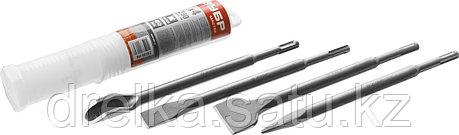 ЗУБР SDS-plus Набор зубил 250 мм, 4 шт., фото 2