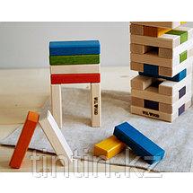 Настольная игра Дженга в деревянной коробке, фото 3
