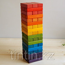 Настольная игра Дженга в деревянной коробке, фото 2