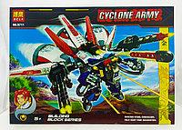 Конструктор BELA Cyclone Army Робот (пластиковый), 371pcs, фото 1