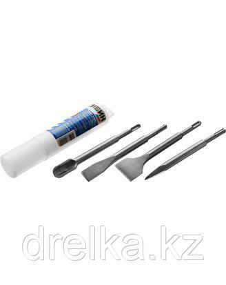 Набор зубил SDS Plus СИБИН 29240-H4, для перфоратора, 200 мм, 4 шт.