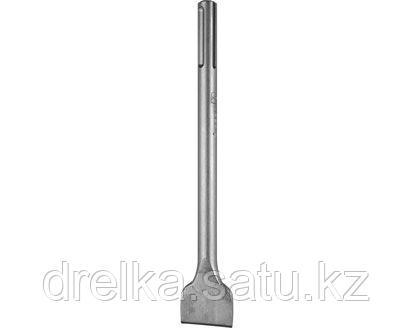 Зубило плоское SDS Mах ЗУБР 29383-50-300, ЭКСПЕРТ, по бетону для перфоратора, изогнутое, 50х300 мм