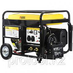 Бензиновая сварочная генераторная установка WG 210Е, 5,0 кВт, 220В, бак 25 л, электрост.//DENZEL