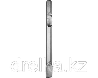 Зубило ЗУБР ЭКСПЕРТ плоское для отбойных молотков и бетоноломов, шестигранный хвостовик 28мм, 35х400мм, фото 2