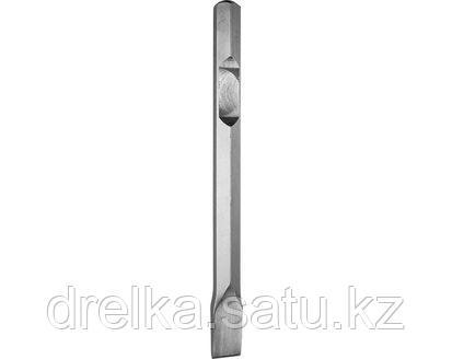 Зубило ЗУБР ЭКСПЕРТ плоское для отбойных молотков и бетоноломов, шестигранный хвостовик 28мм, 35х400мм