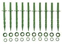 Колышки садовые GRINDA 200мм, цвет зеленый, 10шт, 422319, фото 1