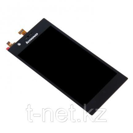 Дисплей Lenovo K900 в сборе с сенсором, цвет черный