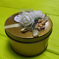 """Банбоньерка металлическая золотая """"нежность золота"""" , фото 1"""
