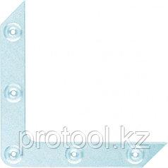 Уголок оконный, 1,2 мм, 100х100 мм, цинк, Россия Сибртех