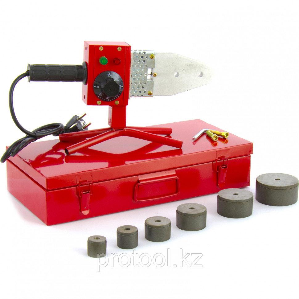 Аппарат для сварки ПП труб КW 800, 800 Вт, 300 °C, 20-25-32-40-50-63 мм, металл. кейс// KRONWERK
