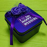 Банбоньерка фиолетовый металик