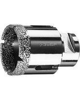 Алмазные коронки для УШМ ЗУБР 29865, ПРОФИ, сухое сверление, алмазы на вакуумной пайке, посадка М14, фото 2