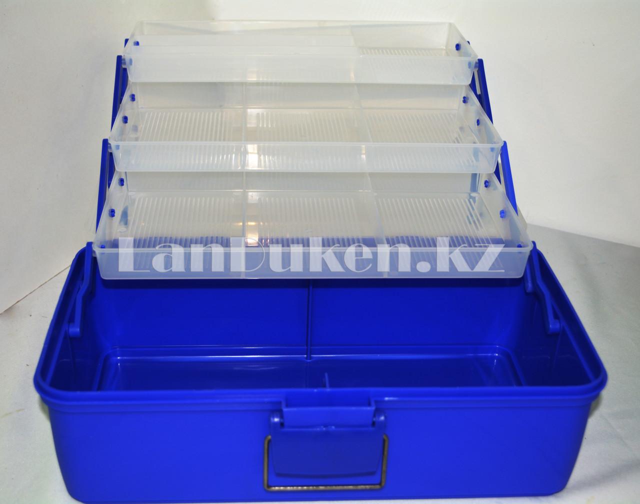 Ящик для рыболовных снастей 37*21*21 см - фото 2