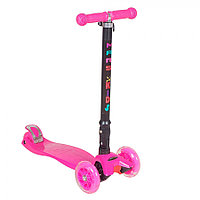 Самокат трехколесный TooCool Mars Kids Maxi складной розовый, фото 1